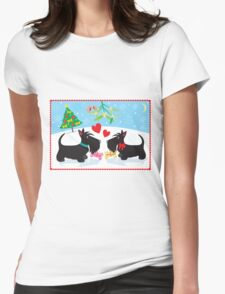 Under the Mistletoe Womens Fitted T-Shirt