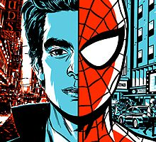 Spiderman-Peter Parker Half and Half by KnightsOfShame