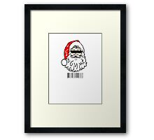 Bad Santa brought in for questioning on Christmas eve  Framed Print