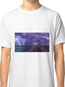 Lighthouses in a Thunderstorm with Purple Rain Classic T-Shirt
