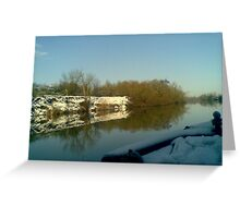 Boat View Reflections Greeting Card