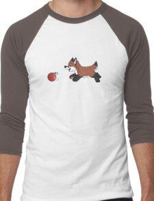 Ornament Chaser- Red Fox Men's Baseball ¾ T-Shirt