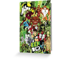 Ben 10 Poster Greeting Card