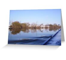 Boat Reflections Two Greeting Card