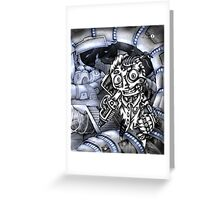 Cyborg Madness Greeting Card