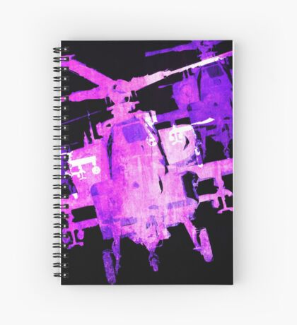 Apache Helicopter Spiral Notebook
