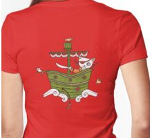 Pirate Puss Womens Fitted T-Shirt