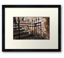 Wrought Iron Shadow Framed Print