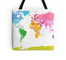 Continents World Map Tote Bag