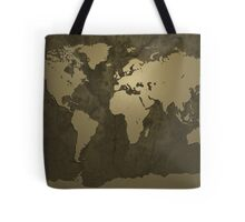 World Map Gold Tote Bag