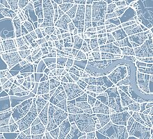 London Street Map by Michael Tompsett