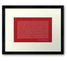 Pi to 2,198 decimal place Framed Print