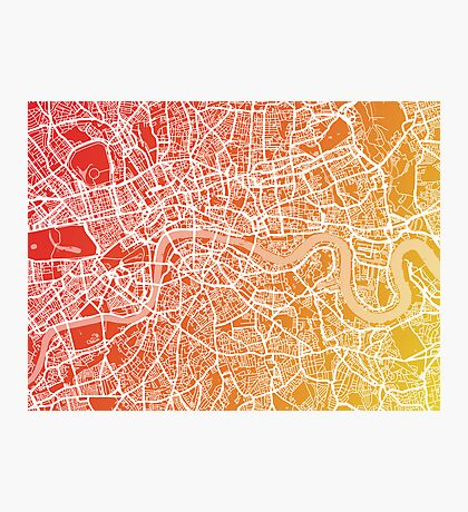 London England Street Map Art Photographic Print