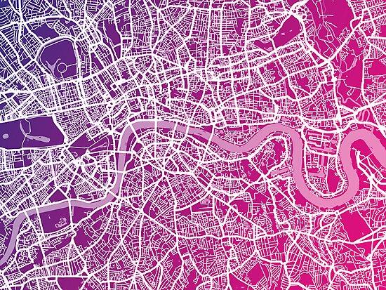 London England Street Map Art by Michael Tompsett