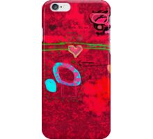 Message in the abstract picture iPhone Case/Skin