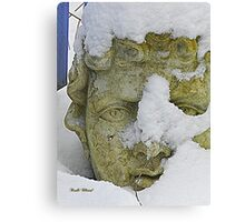 Statue in the Snow Canvas Print