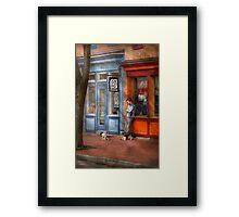 City - Baltimore, MD - Waiting by Joe's bike shop  Framed Print