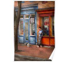 City - Baltimore, MD - Waiting by Joe's bike shop  Poster