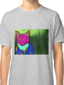 Abstract Bright Colorful Cat  Classic T-Shirt