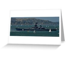 Iowa Under Tow... the final voyage Greeting Card