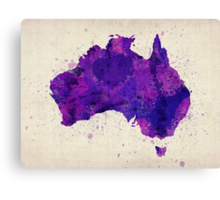 Australia Watercolor Map Art Print Canvas Print