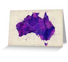 Australia Watercolor Map Art Print Greeting Card