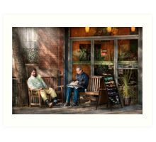 City - New York - Greenwich Village - The path cafe  Art Print