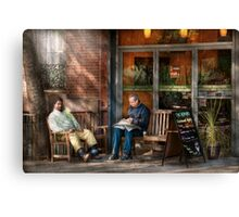 City - New York - Greenwich Village - The path cafe  Canvas Print