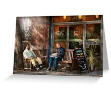 City - New York - Greenwich Village - The path cafe  Greeting Card