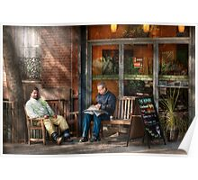 City - New York - Greenwich Village - The path cafe  Poster