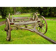 Historic wagon wheels Photographic Print