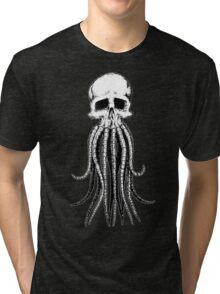 Skull octopus/davy jones Tri-blend T-Shirt