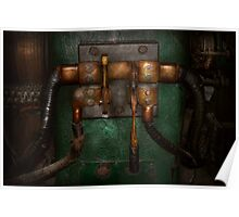 Steampunk - Electrical - Pull the switch  Poster