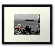 Nimitz and a coke... Framed Print