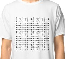 Modern Black and White Hand Drawn Arrows Classic T-Shirt