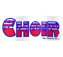 Choir Red White & Blue Poster