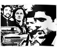 Supernatural silhouettes Poster