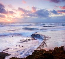 Incoming Tide at Sunset by Alex Fricke