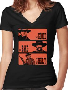 BTTF: The good, the bad and the ugly Women's Fitted V-Neck T-Shirt