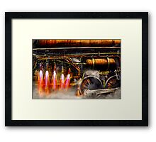 Steampunk - Train - The super express  Framed Print