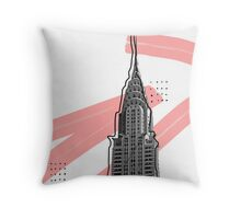New York Paint Brushes Throw Pillow