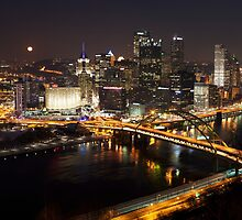 Downtown Pittsburgh at Night by Mark Van Scyoc