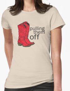 How I met your mother Pulling them off Womens Fitted T-Shirt