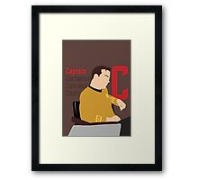 C is for Captain and Corbomite Framed Print