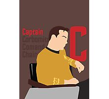 C is for Captain and Corbomite Photographic Print