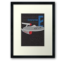 E is for Enterprise and Earth Framed Print
