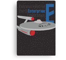 E is for Enterprise and Earth Canvas Print
