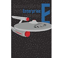 E is for Enterprise and Earth Photographic Print