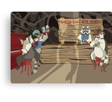 Raccoon Saloon Canvas Print