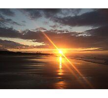Bamburgh Beach Sunset #2 Photographic Print